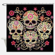 Sugar Skulls III Shower Curtain