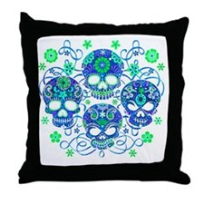 Sugar Skulls IV Throw Pillow
