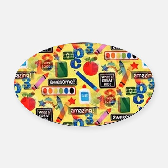 back to school Oval Car Magnet