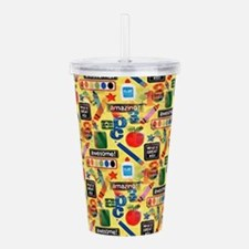 back to school Acrylic Double-wall Tumbler