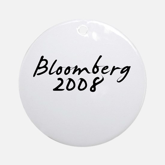 Bloomberg Autograph Ornament (Round)