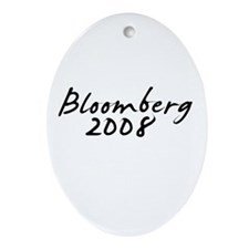 Bloomberg Autograph Oval Ornament