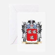 Robertson Coat of Arms - Family Cre Greeting Cards