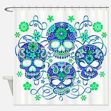 Sugar Skulls IV Shower Curtain