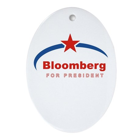 Bloomberg for President Oval Ornament