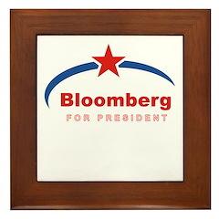 Bloomberg for President Framed Tile
