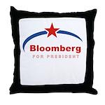 Bloomberg for President Throw Pillow