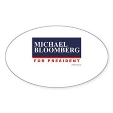 Michael Bloomberg for President Oval Decal