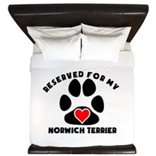Reserved For My Norwich Terrier King Duvet