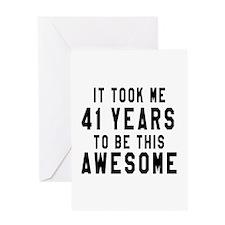 41 Years Birthday Designs Greeting Card