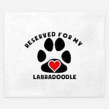 Reserved For My Labradoodle King Duvet