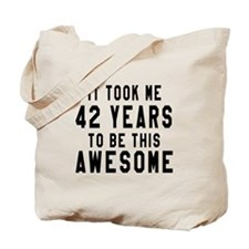 42 Years Birthday Designs Tote Bag