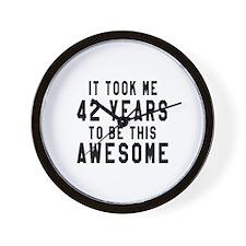 42 Years Birthday Designs Wall Clock