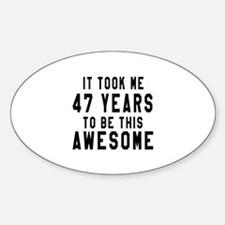 47 Years Birthday Designs Decal
