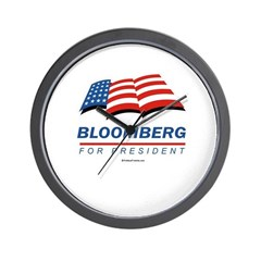 Bloomberg for President Wall Clock