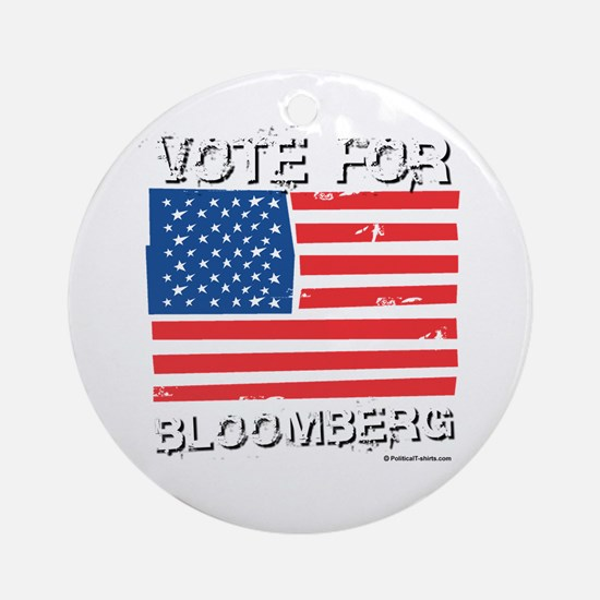 Vote for Bloomberg Ornament (Round)