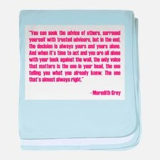 MEREDITH QUOTE baby blanket