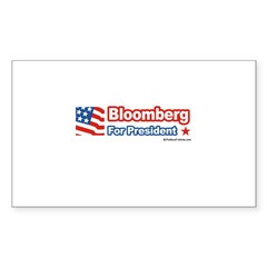 Bloomberg for President Rectangle Decal