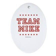 Team Mike Oval Ornament