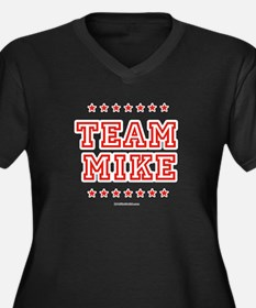 Team Mike Women's Plus Size V-Neck Dark T-Shirt