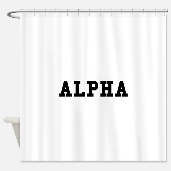 Alpha Shower Curtain