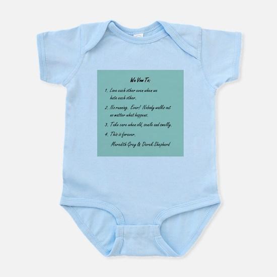POST-IT NOTE VOWS Infant Bodysuit