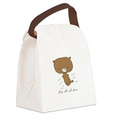 Plays Well With Otters Canvas Lunch Bag