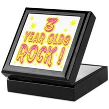 3 Year Olds Rock ! Keepsake Box