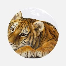 young tiger.jpg Round Ornament