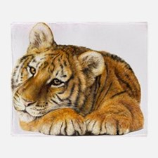 young tiger.jpg Throw Blanket