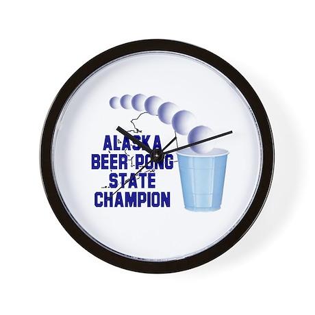 Alaska Beer Pong State Champi Wall Clock