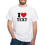 I love Mens Classic White T-Shirts
