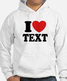 I Heart Personalized Hoodie