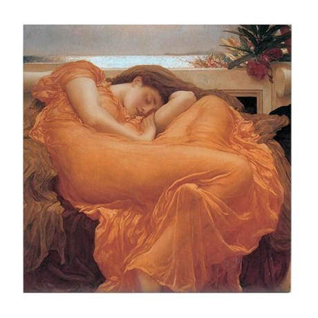 Flaming June Tile Coaster