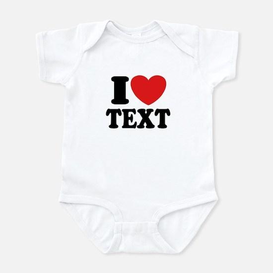 I Heart Personalized Infant Bodysuit