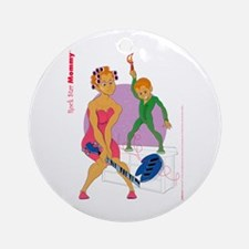 Rock Star Mommy Ornament (Round)