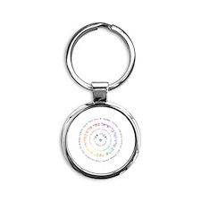 Oseh Shalom Round Keychain