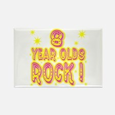 8 Year Olds Rock ! Rectangle Magnet