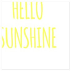hello sunshine hipster funny quote saying modern s Framed Print