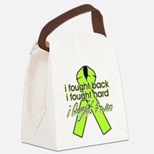 Lyme Disease I Fought Back Canvas Lunch Bag