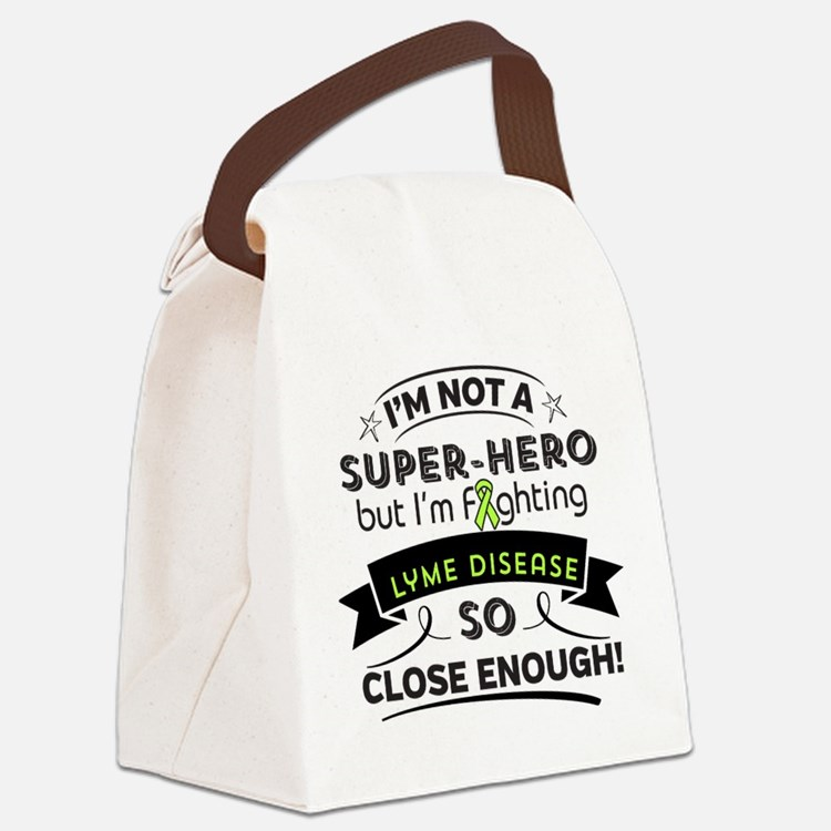 Lyme Disease Super-Hero Canvas Lunch Bag