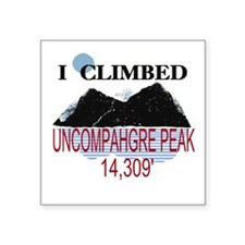 "Unique Mountain peak Square Sticker 3"" x 3"""