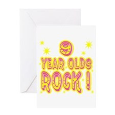 9 Year Olds Rock ! Greeting Card