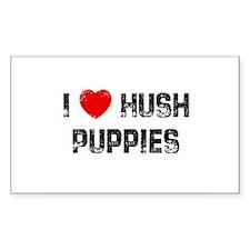 I * Hush Puppies Rectangle Decal