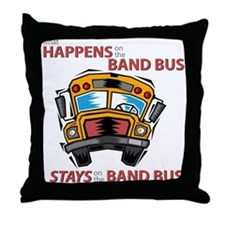 What Happens on the Band Bus Throw Pillow