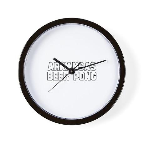 Arkansas Beer Pong Wall Clock