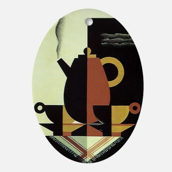 Vintage Coffee Oval Ornament