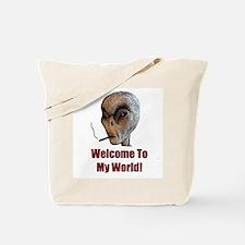 Smoking Alien Tote Bag