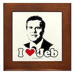 I Love Jeb Framed Tile