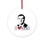 I Love Jeb Ornament (Round)